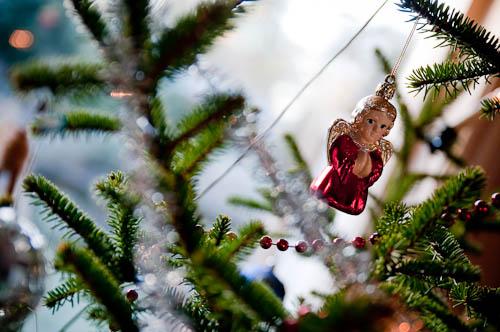 En ängel i julgranen
